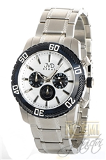 c90f3ceb6c6 Pánské hodinky s chronografem JVD steel C1130.3 + Dárek zdarma