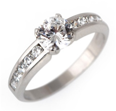 8f5445b7a Zlatý prsten se zirkony pr0101 + DÁREK ZDARMA