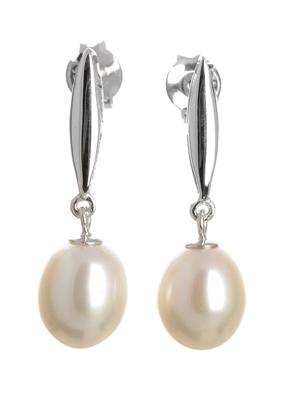 Stříbrné naušnice s perlou SVLIPE016769F