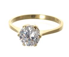 115b88d0a Zlatý prsten se zirkonem PR0171F + DÁREK ZDARMA