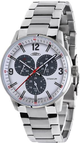 Pánské hodinky Prim Sport Titanium W01C.13051.B + Dárek zdarma
