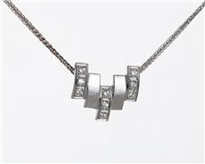 82825e93c Briliantový náhrdelník z bílého zlata BZ0011F + DÁREK ZDARMA