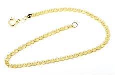 eaee10a86 Dámský zlatý náramek Valentina ZLNA779F 18 cm + Dárek zdarma