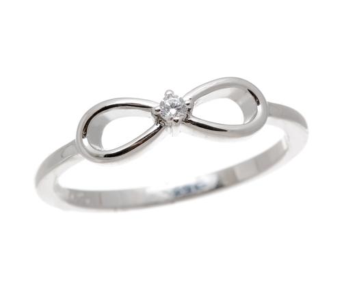 Stříbrný prsten nekonečno se zirkonem 63342F