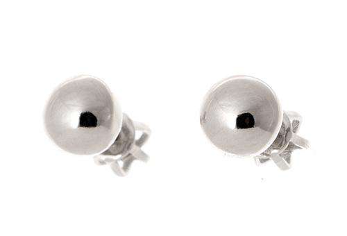 Stříbrné náušnice pecičky - kuličky STNAU0769F