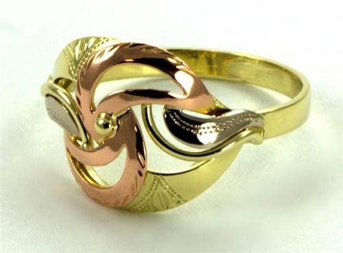 Prsten zlatý dámský 0075 + DÁREK ZDARMA
