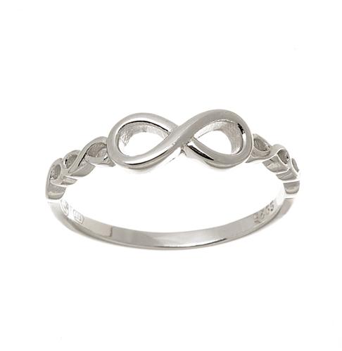 Dámský stříbrný prsten nekonečno AGG441