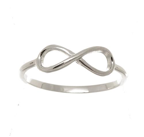 Dámský stříbrný prsten nekonečno AGG357